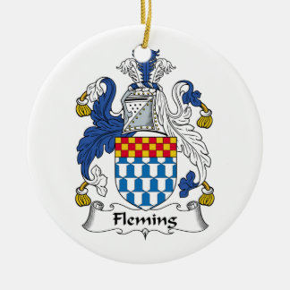 Fleming Family Crest Ceramic Ornament