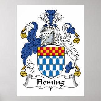 Fleming Family Crest Poster