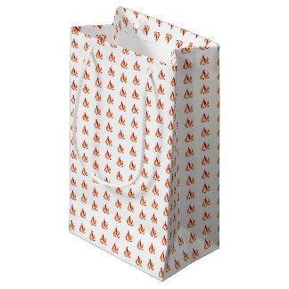 Fleming Pattern talk orange Small Gift Bag