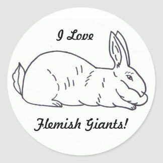Flemish Giant Rabbit Sticker