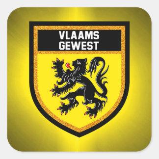 Flemish Region Flag Square Sticker