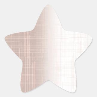 Flesh Pink Grunge Effect Background Star Sticker