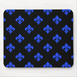 Fleur De Lis 1 Blue Mouse Pad