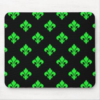 Fleur De Lis 1 Green Mouse Pad
