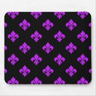 Fleur De Lis 1 Purple Mouse Pad