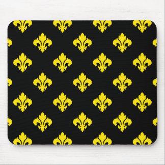 Fleur De Lis 1 Yellow Mouse Pad