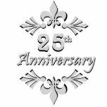 Fleur De Lis 25th Anniversary Ornament