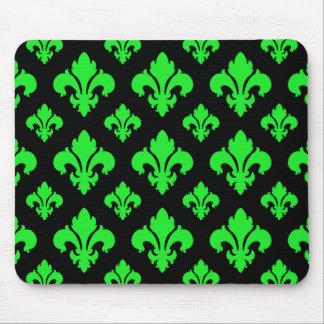 Fleur De Lis 2 Green Mouse Pad