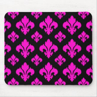 Fleur De Lis 2 Pink Mouse Pad