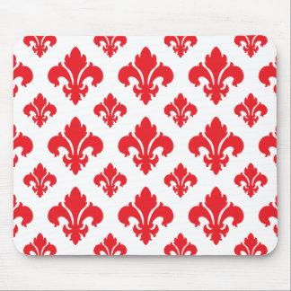 Fleur De Lis 2 Red Mouse Pad