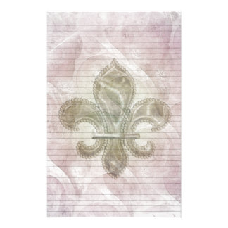 Fleur De Lis 2 stationery-optional lines Stationery