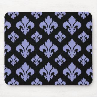 Fleur De Lis 2 Violet Tulip Mouse Pad