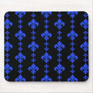 Fleur De Lis 3 Blue Mouse Pad