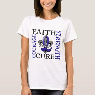 Fleur De Lis 3 Colon Cancer T-Shirt