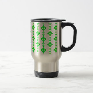 Fleur De Lis 3 Green Coffee Mugs