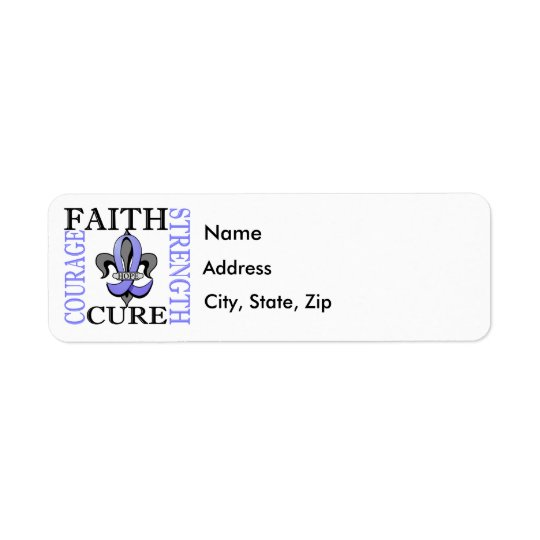 Fleur De Lis 3 Prostate Cancer Return Address Label