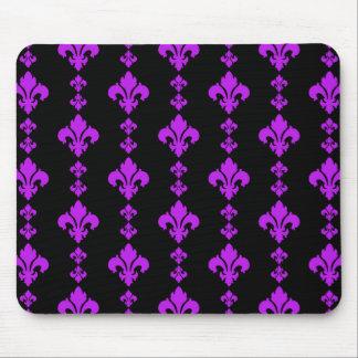 Fleur De Lis 3 Purple Mouse Pad