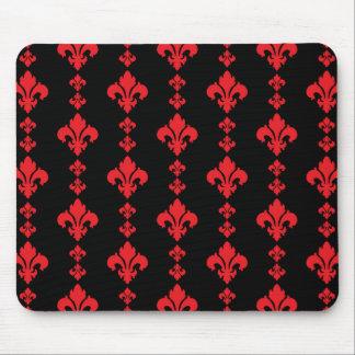 Fleur De Lis 3 Red Mouse Pad