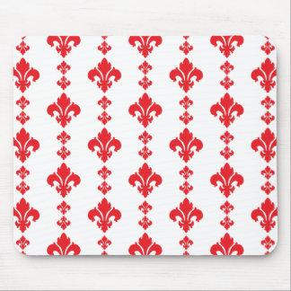 Fleur De Lis 3 Red Mousepad