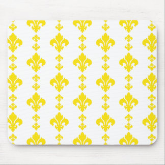 Fleur De Lis 3 Yellow Mousepads