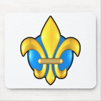 Fleur-de-lis-3d Mousepads