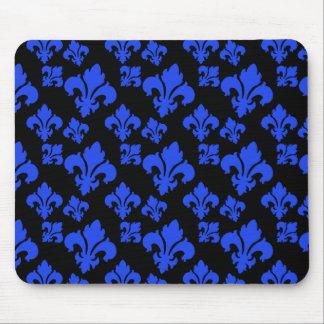 Fleur De Lis 4 Blue Mouse Pad