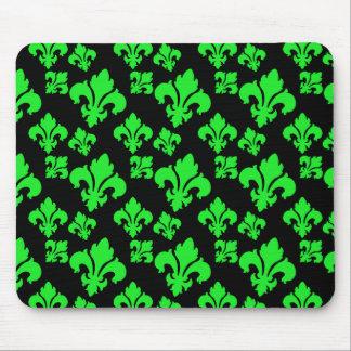 Fleur De Lis 4 Green Mouse Pad