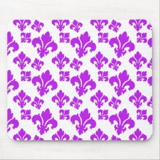 Fleur De Lis 4 Purple Mousepad