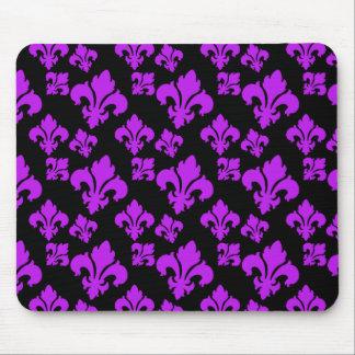 Fleur De Lis 4 Purple Mousepads