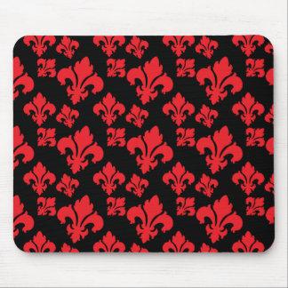 Fleur De Lis 4 Red Mouse Pad
