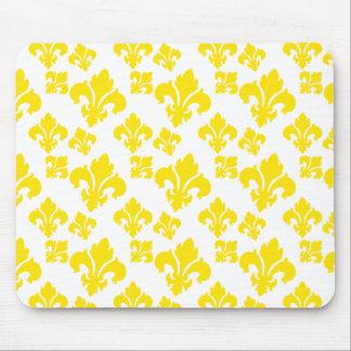 Fleur De Lis 4 Yellow Mousepad