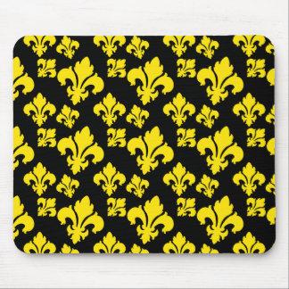 Fleur De Lis 4 Yellow Mouse Pads