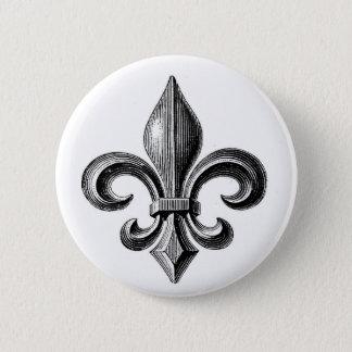 Fleur-de-Lis 6 Cm Round Badge