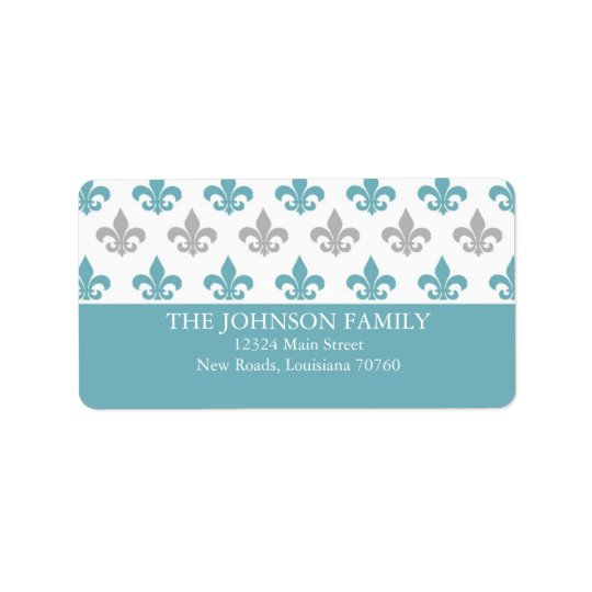 Fleur de Lis Address Label