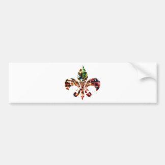 fleur-de-lis : Amazing Red Sparkle Design Bumper Sticker