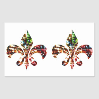 fleur-de-lis : Amazing Red Sparkle Design Rectangular Sticker