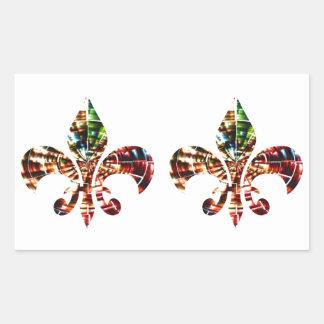 fleur-de-lis : Amazing Red Sparkle Design Rectangular Sticker