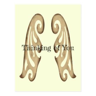 Fleur de Lis Angel Wings Postcard