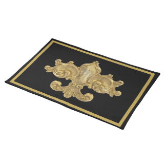 Fleur de Lis Antique Gold Placemat