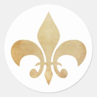 Fleur de Lis Antique Gold Stickers