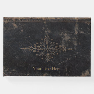 Fleur-de-lis Antique Leather Guest Book