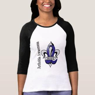 Fleur De Lis Arthritis Hope T-shirt