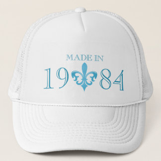 Fleur de lis authentic age made in blue hat