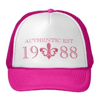 Fleur de lis authentic age pink hat