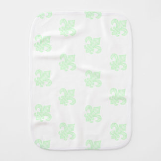 Fleur de Lis bébé™ Baby Burp Cloth Mint Green