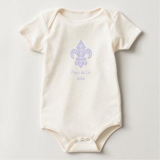 Fleur de Lis bébé™ Organic One Piece Baby Bodysuit