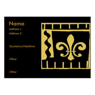 Fleur De Lis Black and Gold Tiles Pack Of Chubby Business Cards