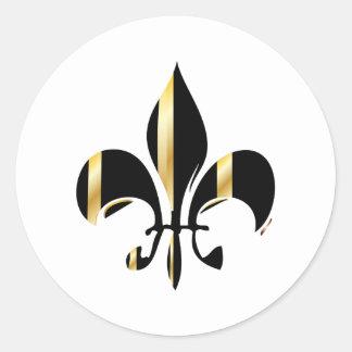 Fleur de Lis/black + gold Sticker
