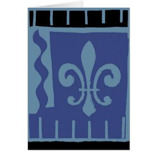 Fleur De Lis Blue Matisse Card