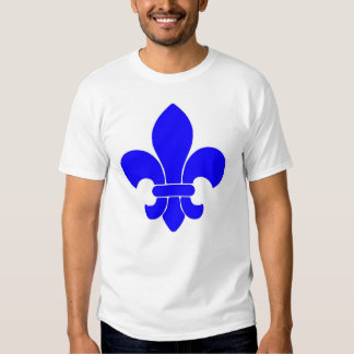 fleur de lis blue  tee shirt